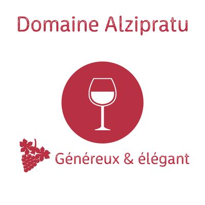 Domaine Alzipratu rouge Cuvée Pumonte 2018 AOP Corse Calvi 75cl (Recommandé avec la souris d'agneau confite au miel) image