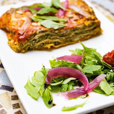 Lasagne au brocciu et aux blettes du jardin image