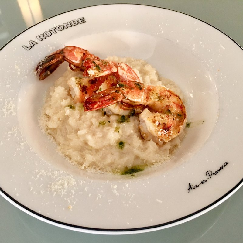 Risotto onctueux aux gambas image